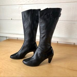 Tsubo • Tall Black Leather Boots